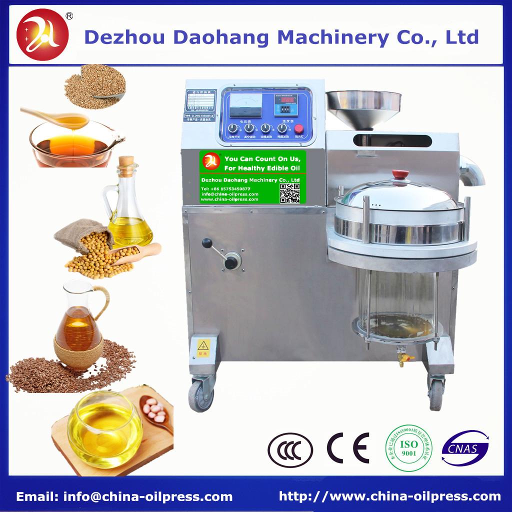Screw type Sesame Rapeseed Tea seed Oil Press Machine