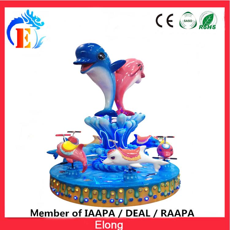 Elong mini animal carousel ride dolphin merry go round Dolphin family carousel