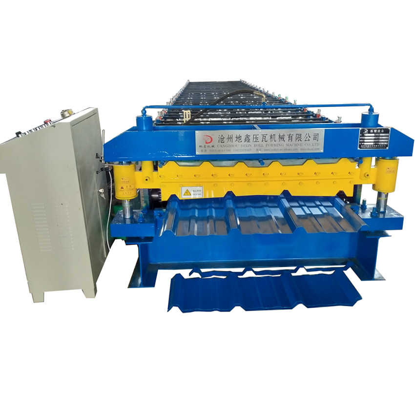 Double Layer cold Metal Roofing Sheet tile making machine