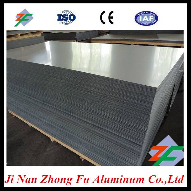 Supply 3003 aluminum sheet with blue pvc film in chinese factory