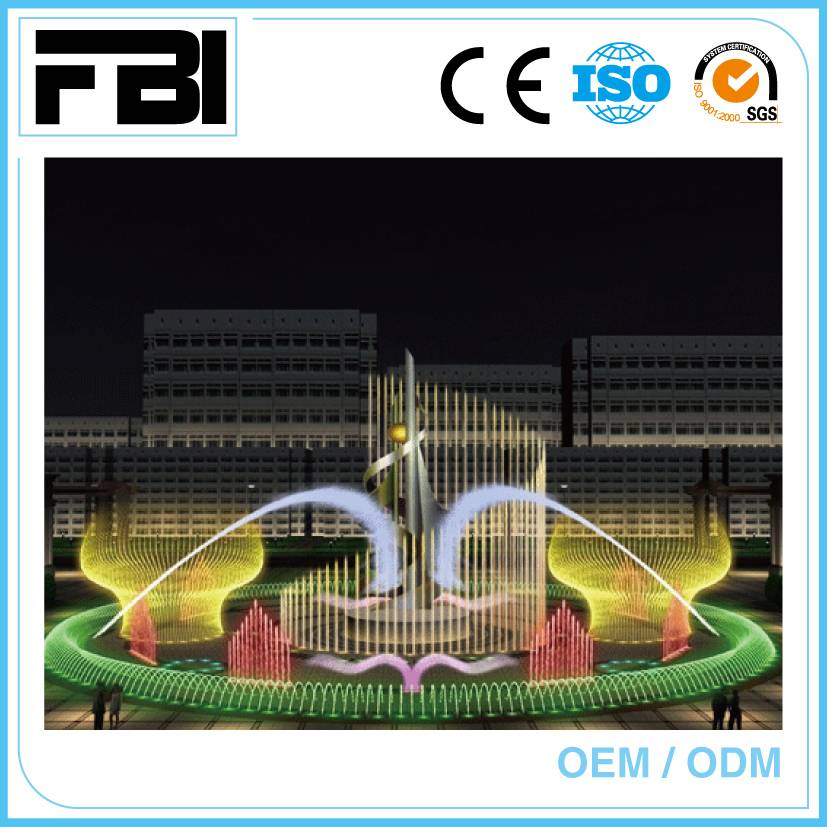 10m round dancing fountain, stailnless steel fountain from China