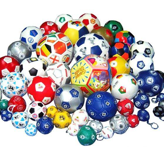 ICTI Factory colorful printed promotional soft soccer balls