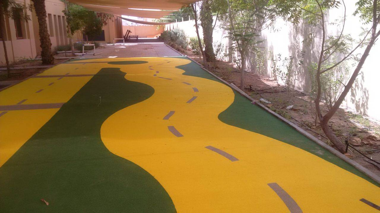 EPDM rubber for apartments jogging road