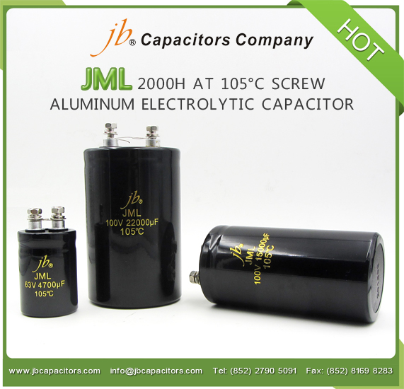 JML - 2000H at 105°C Screw Aluminum Electrolytic Capacitor