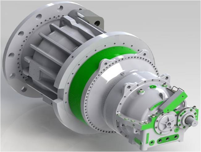 Windpower Gearbox-1.5MW Double Planetary And Main Shaft Gearbox