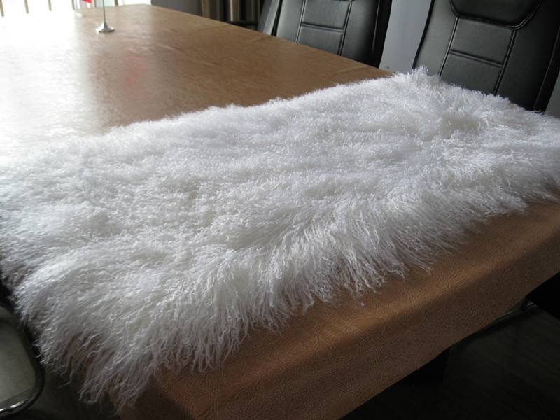 Tibetan sheepskin throw customized
