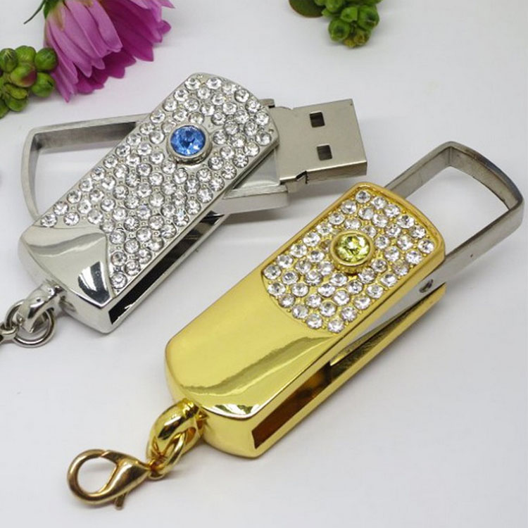 FACTORY OEM 2GB Rotation Golden Silver USB Flash Drive