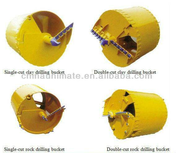 Piling Rig Tools,Sand Drilling Bucket With Double Bottoms,Piling Rig Rock Drilling Bucket