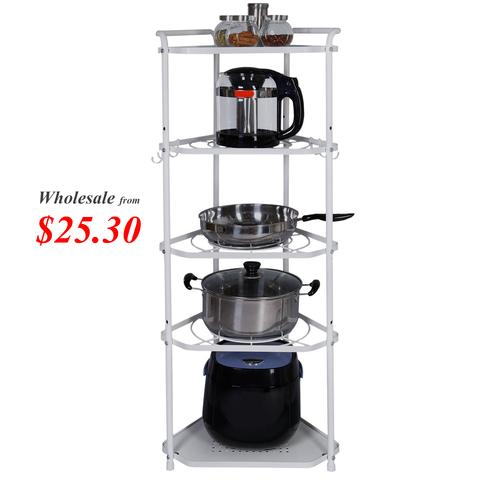 Lifewit 5 Tiers Height Adjustable Metal Corner Rack