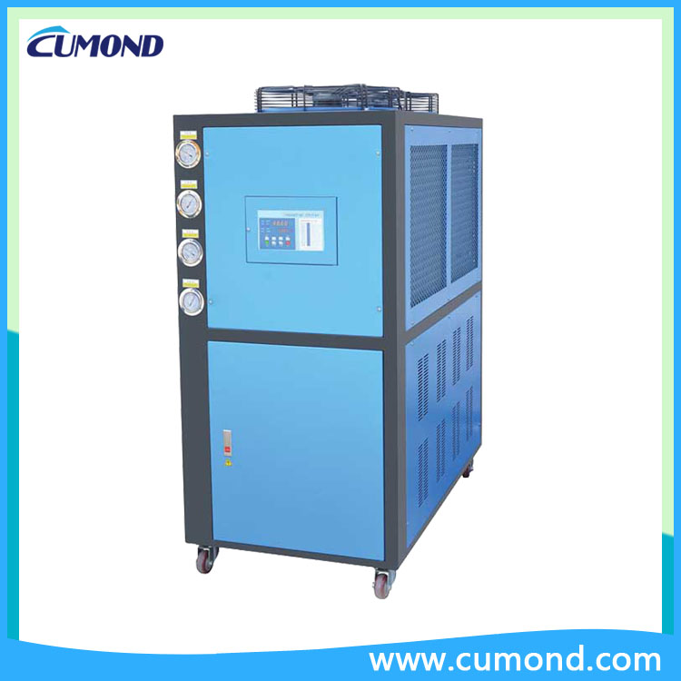 Portable air cooled industrial chiller