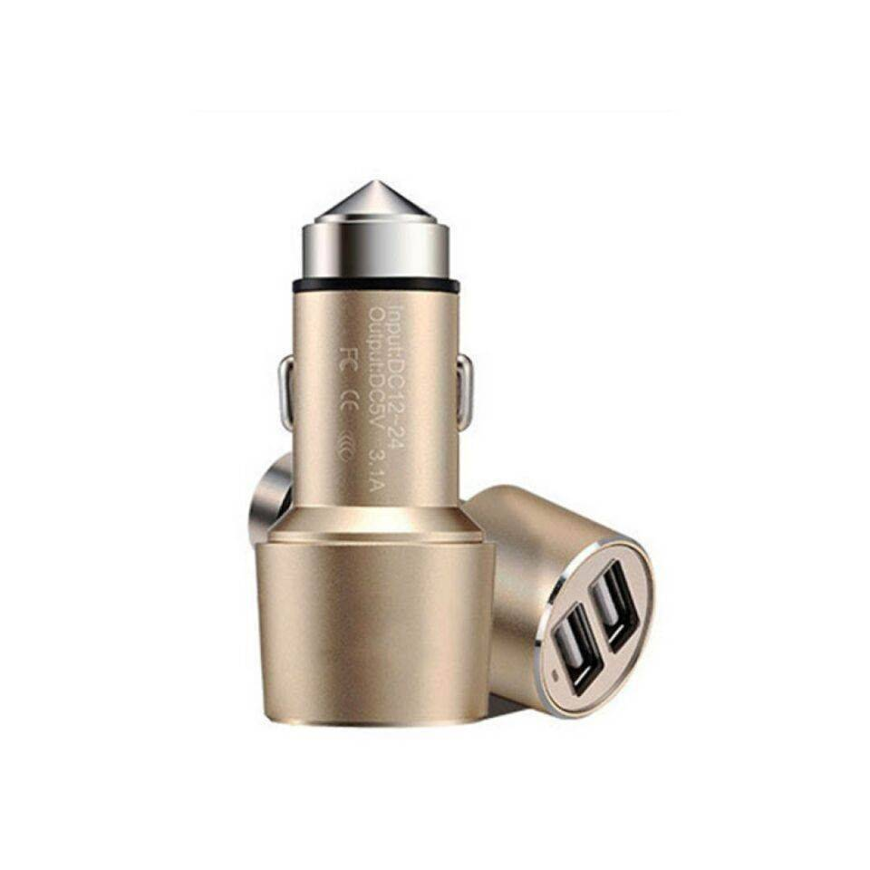2015 Hot Sale Stainless Steel Car Charger for Car Safety Use