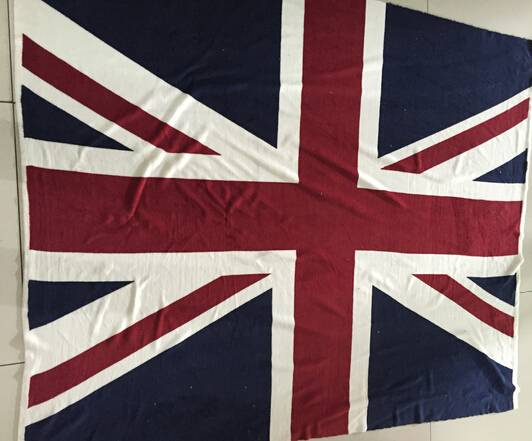 thick printed coral fleece UK flag sherpa blanket