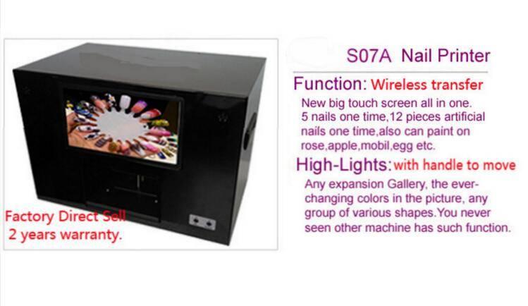 2016 nail printer/nail printing machinery/paint hot sale mobile wireless transfer photo