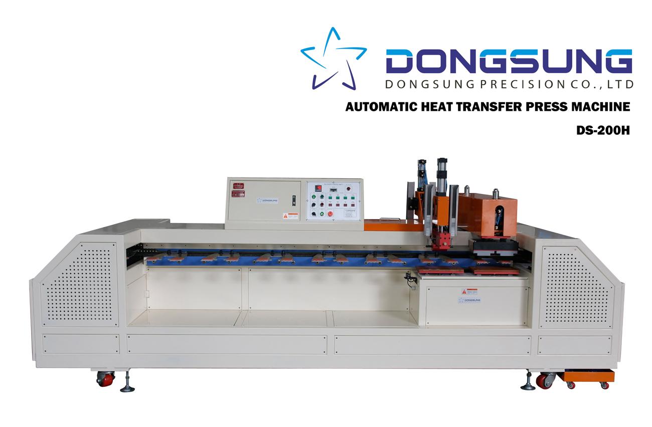 Automatic heat transfer press machine