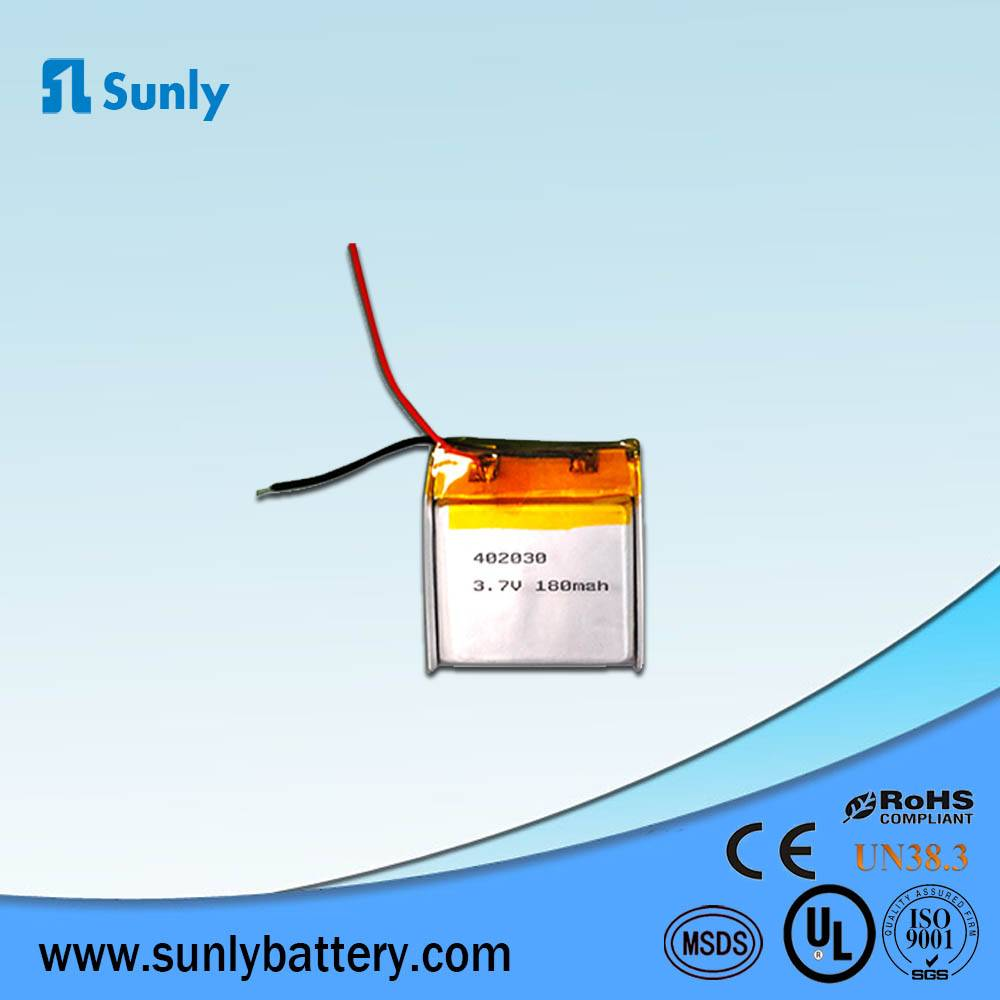 lithium ion battery 3.7V 180mAh lipo battery