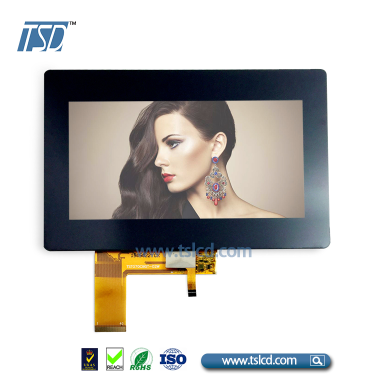 wholesale 800x480 LCD luminance 500nits 7 inch tft lcd 40 pin with Capacitive touch