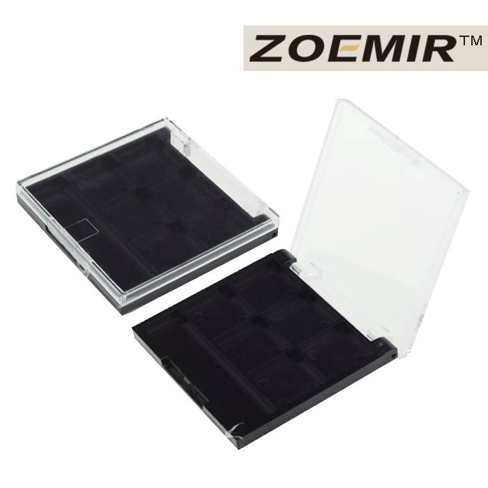 Brand name 6 color empty eyeshadow display palette packaging