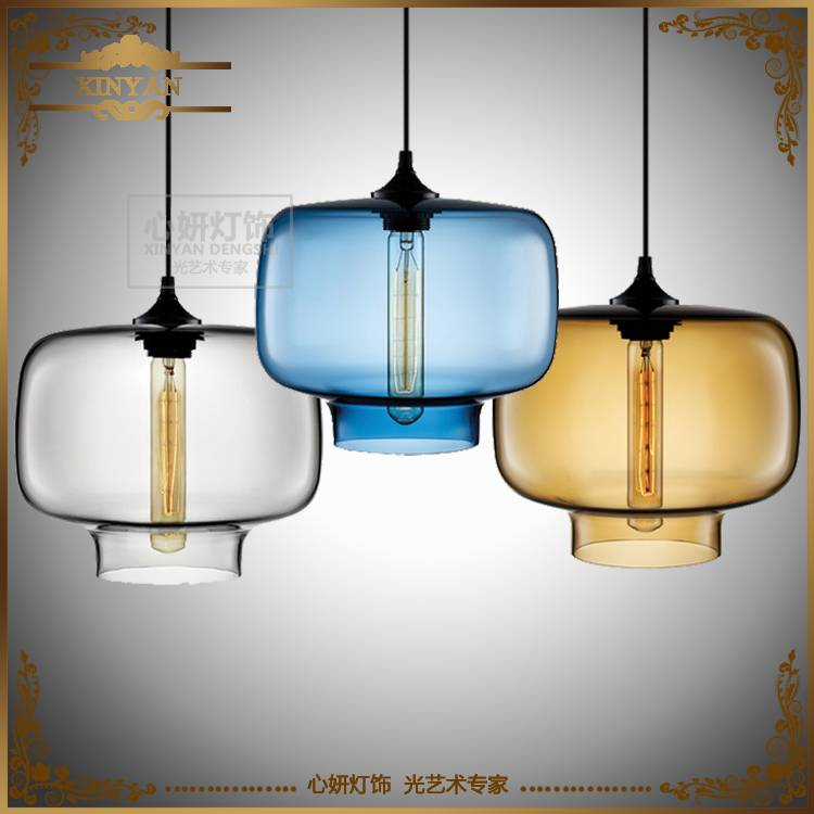 Edison Bulbs Stained Glass Chandeliers, Niche Modern Restaurant Hotel Lightings LED