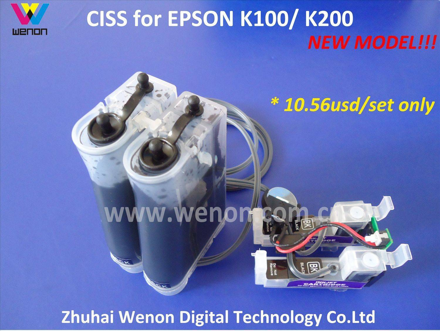 Continuous Ink supply System for Epson K100,K200 (T1371) with Chip