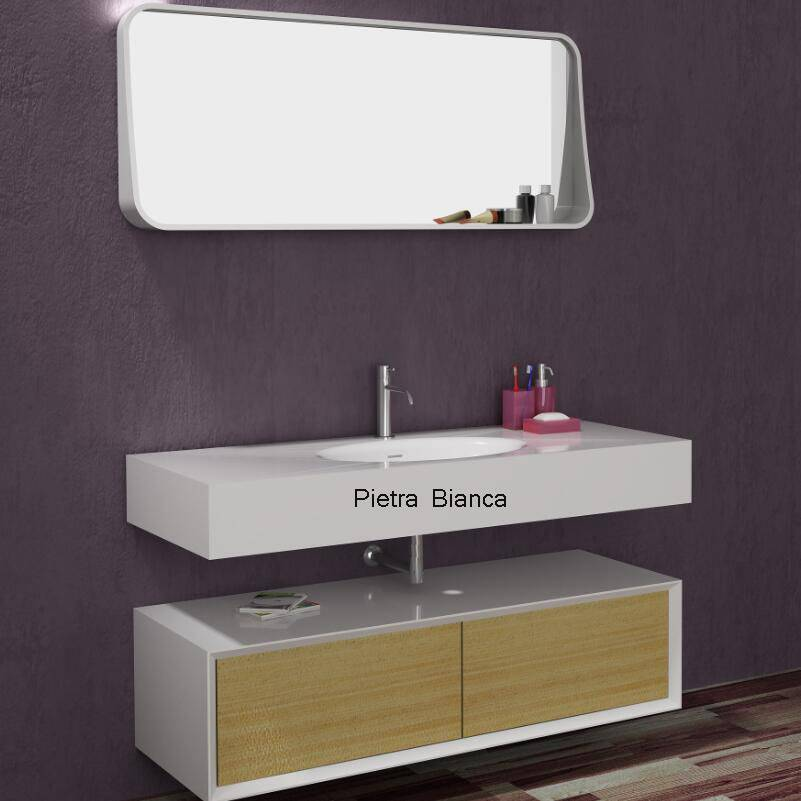 Artificial Stone Basin with Cabinet