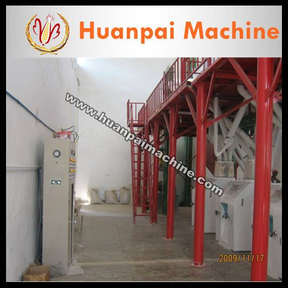 full automatic maize flour milling machine/corn flour milling machine/maize grits machine