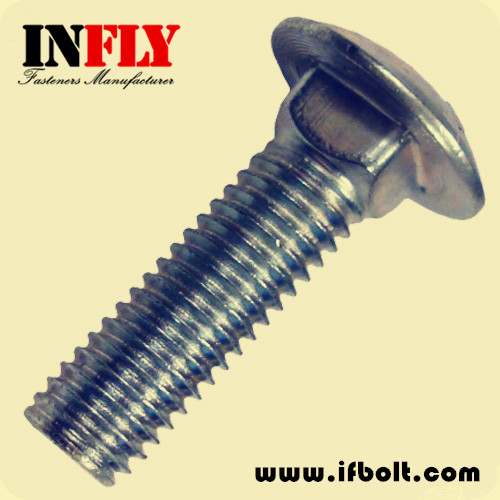 US carriage bolt ASTM A307A round head square neck bolt-Infly Fasteners