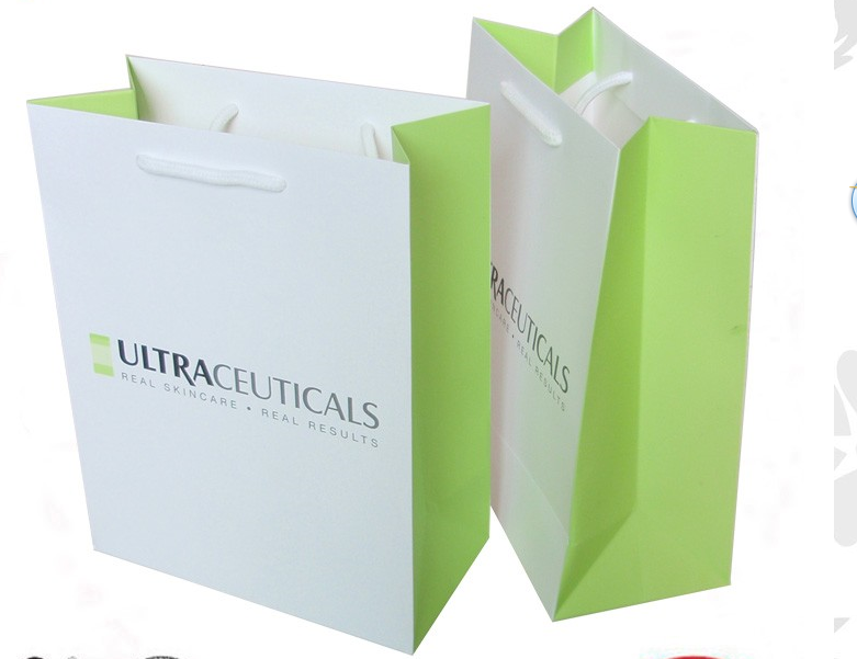 Newest White Paper Carrier Bags for Sale