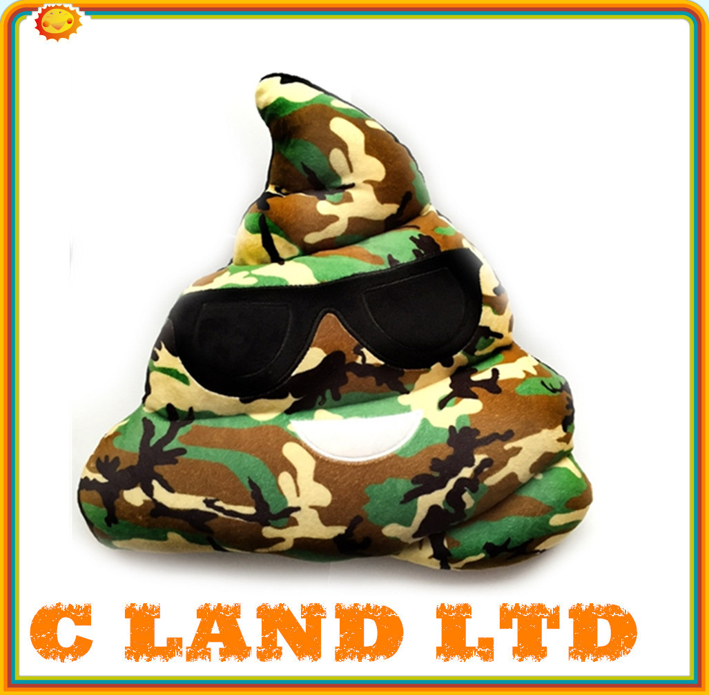 camouflage color Plush Emoji pillow