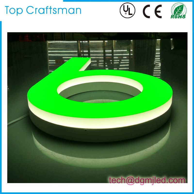 Outdoor used  Brightness Illuminated Customized led channel letter shop sign