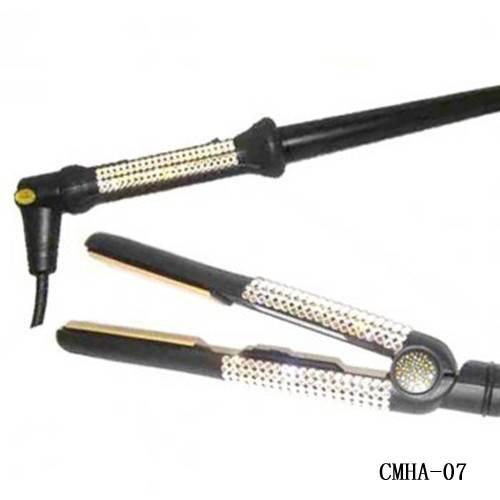 Swarovski Crystal Hair Straightener &Hair Curling Wand