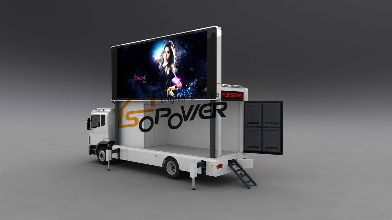 SoPower Vehicle-Mounted Mobile LED Display iScreen Series