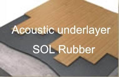 Acoustic underlayer rubber flooring, shockpad flooring,