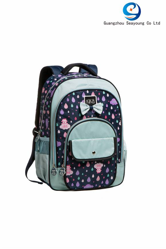 Promotional Cheap Cute with  Butterfly Knot School Backpack Computer Backpack