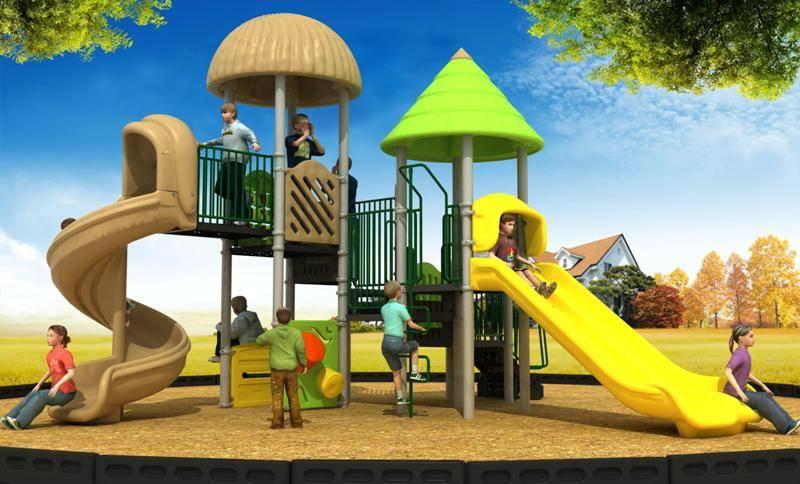 Latest Cartoon Series Playground Equipment Outdoor Spiral Slide WD-CR182