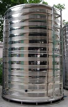 Cylindrical stainless water tank