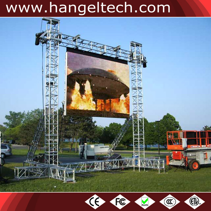 P10mm Indoor Outdoor Weather Proof LED Display Screen for Rental - 640x640mm Cabinet
