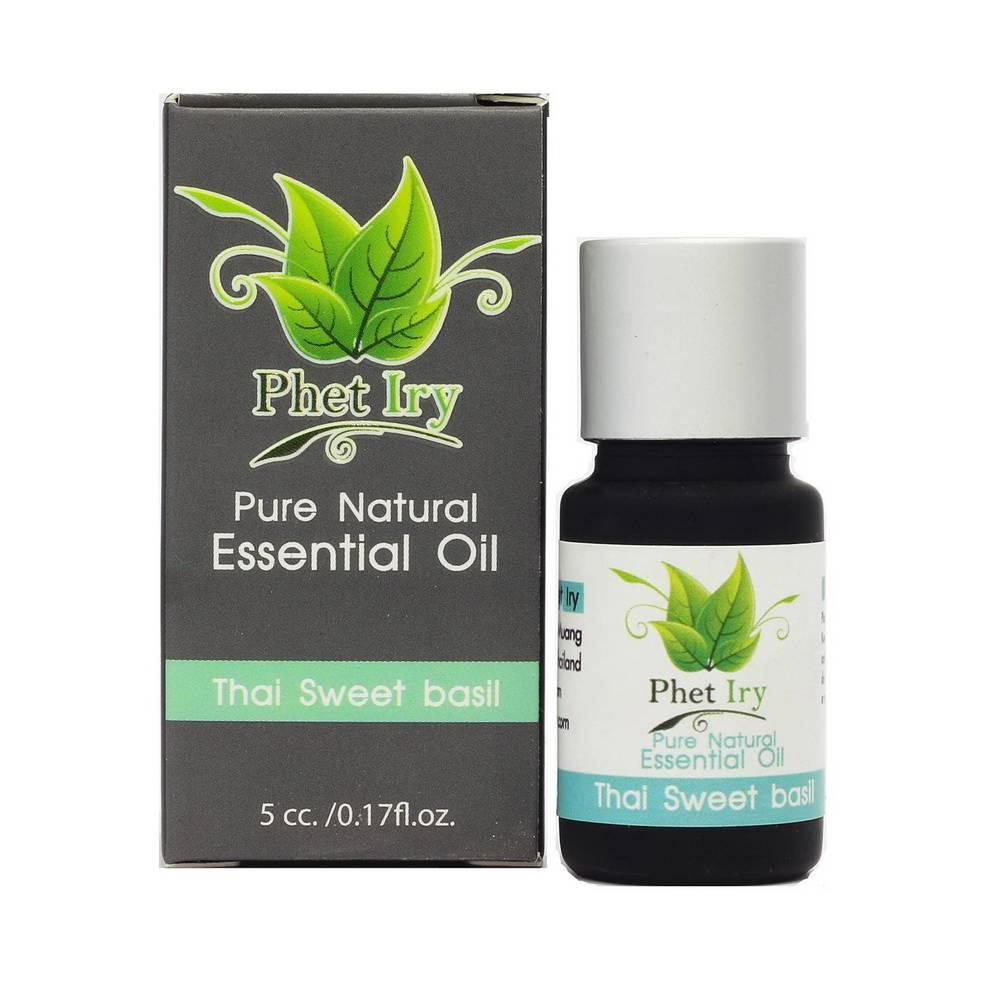 Pure, natural essential oil Thai Sweet Basil