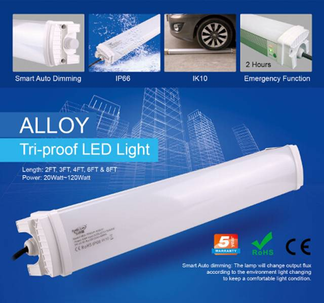 IP66 explosion proof led tube, led tri-proof light 5 year warranty