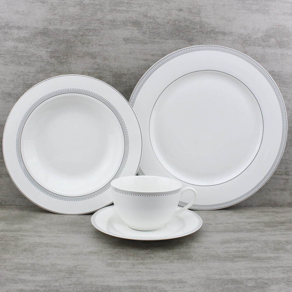 cream designer dinner sets