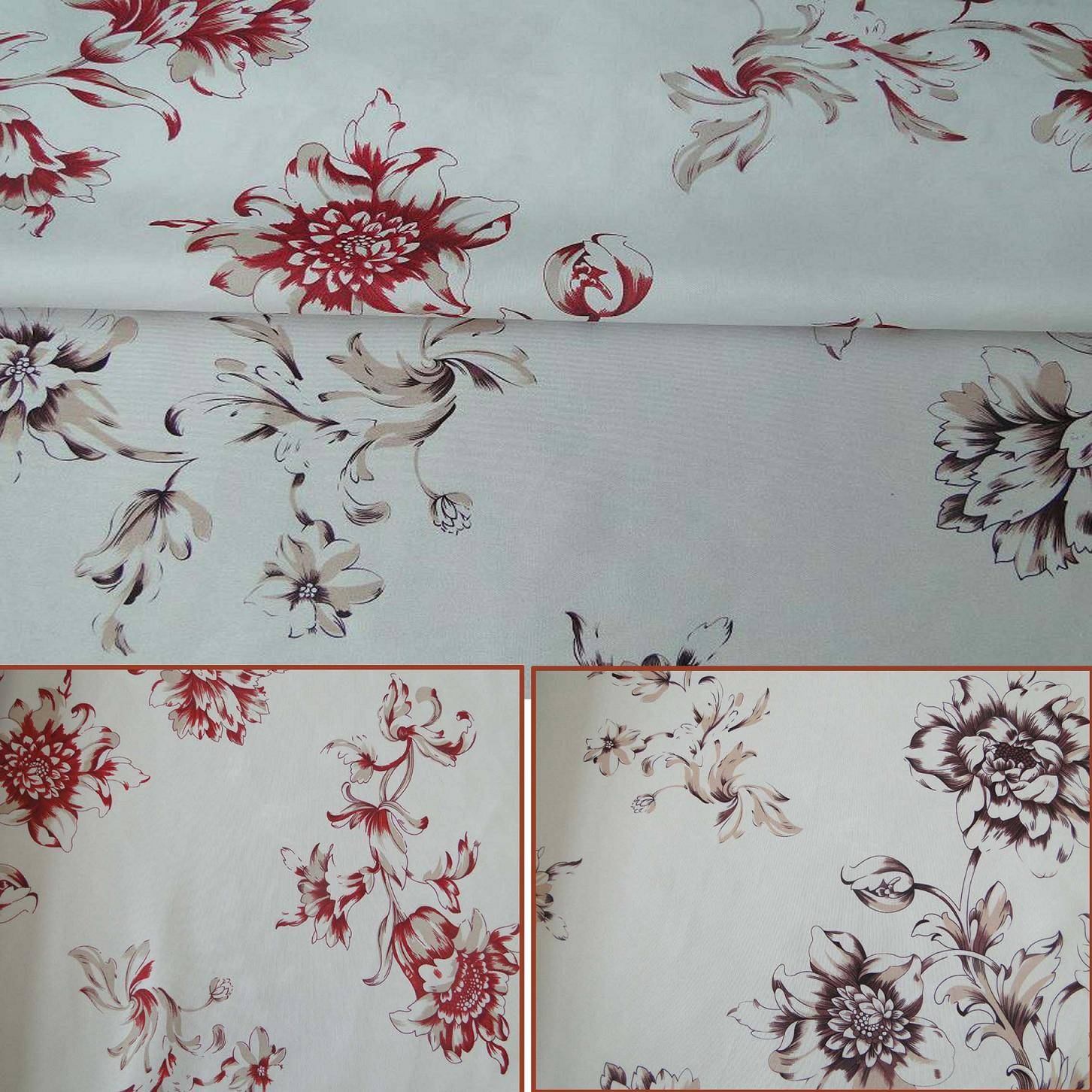home floral plain polyester printed mattress fabric RLP985