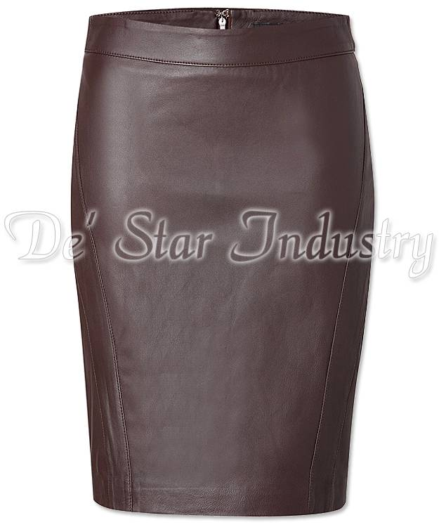 Women Leather Pencil Skirts