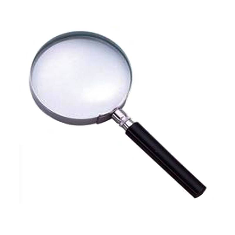 Good quality Plasic handheld 3x75 full metal good quallity magnifier