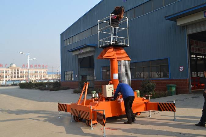 CE Portable telescopic electric hydraulic lift