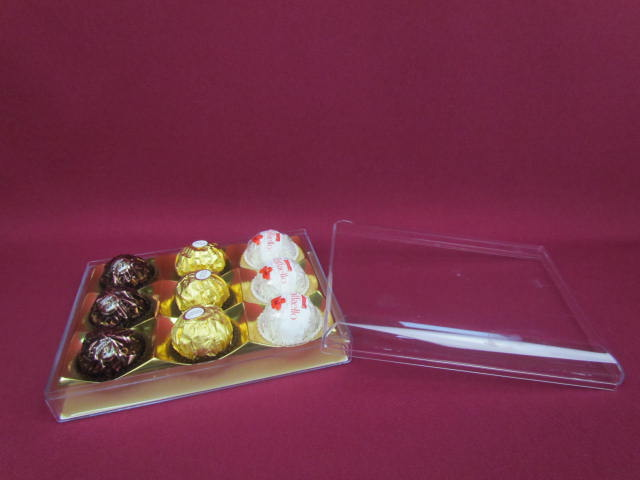 Custom made Clear Plastic Chocolate Candy Packaging Box
