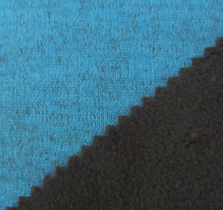 Double color imitation knitting wool fabric+TPU+ fleece