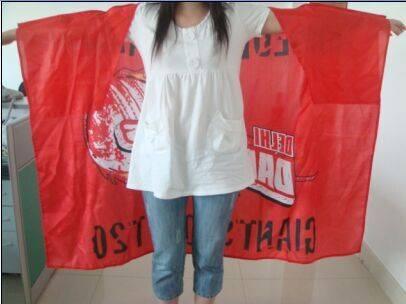 football fans body flag cape flag for cheering body flag