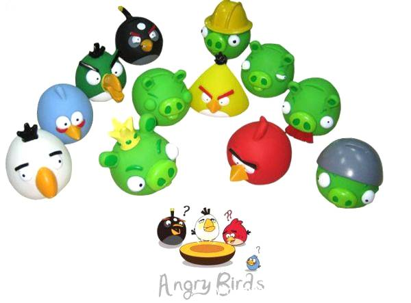 High quality Colorful Mini Angry birds stress ball toy