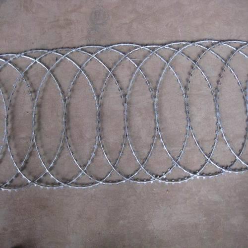 Razor wire flat wrap coil