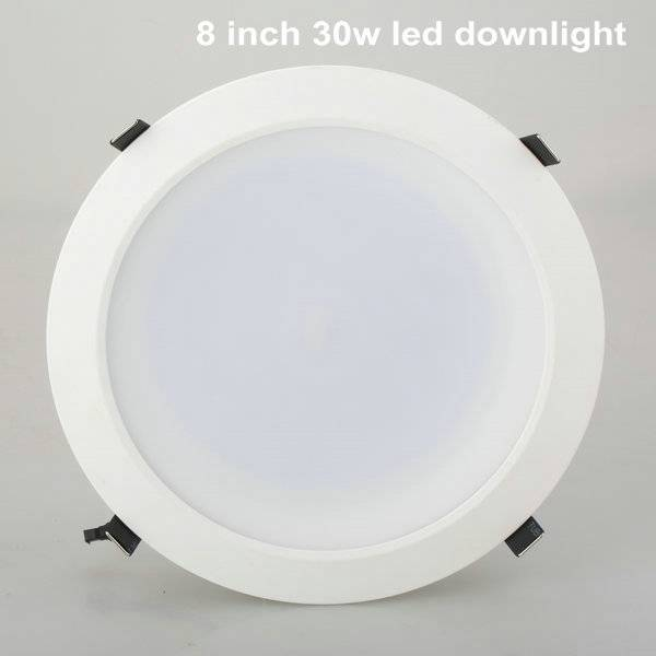 Aluminum round 8 inch led downlight 30w for office