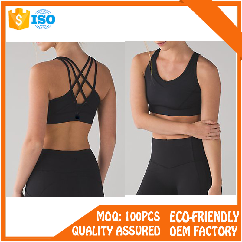 Wholesale cheap active women seamless sexy yoga sports bra